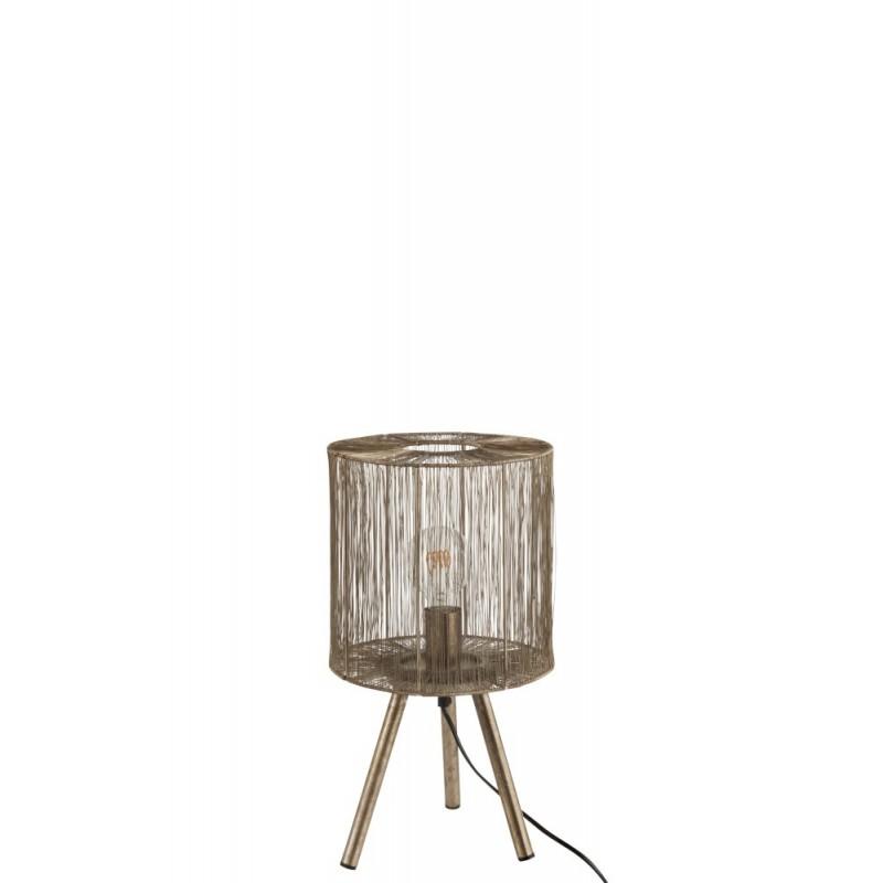 Lampe de table métal antique marron H45,5cm