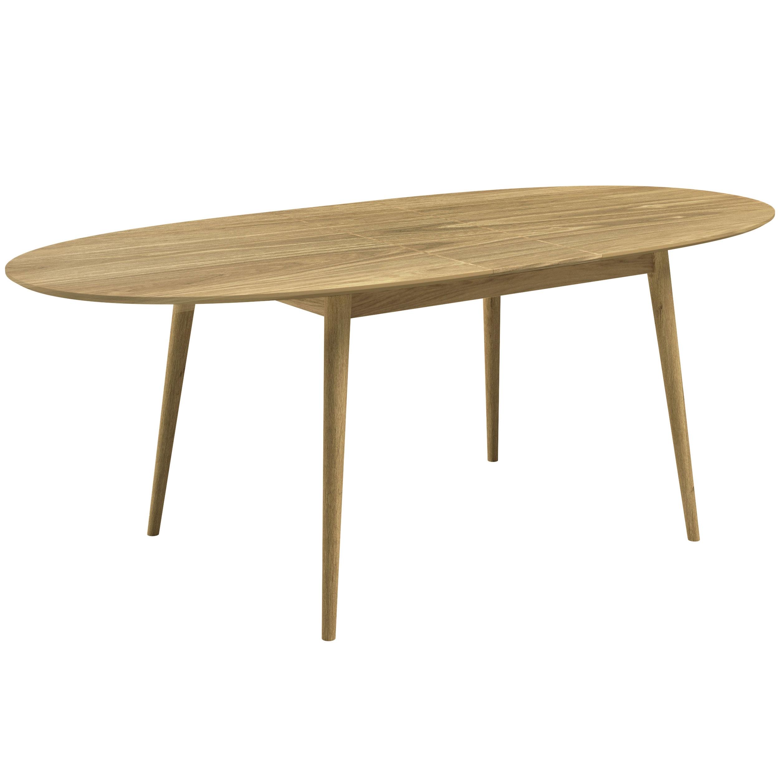 Table à manger ovale 170/200 cm extensible