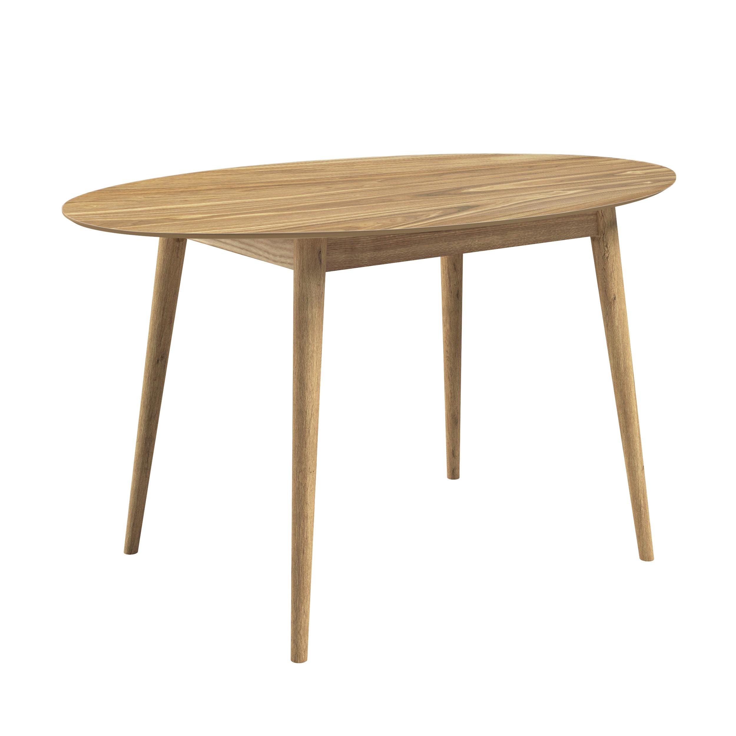 Table ovale en bois 130 cm