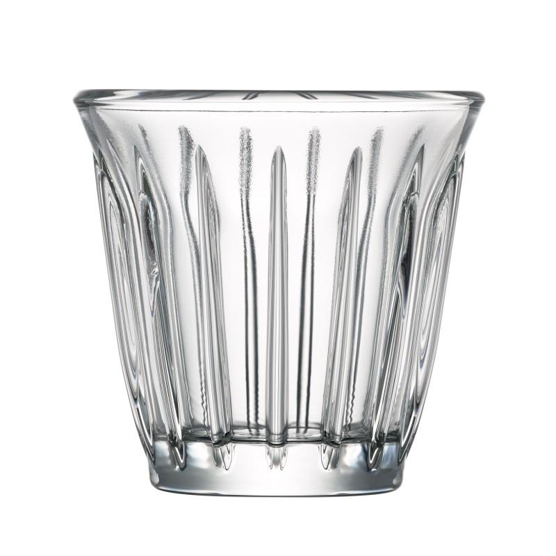 Tasse en verre transparent - lot de 6