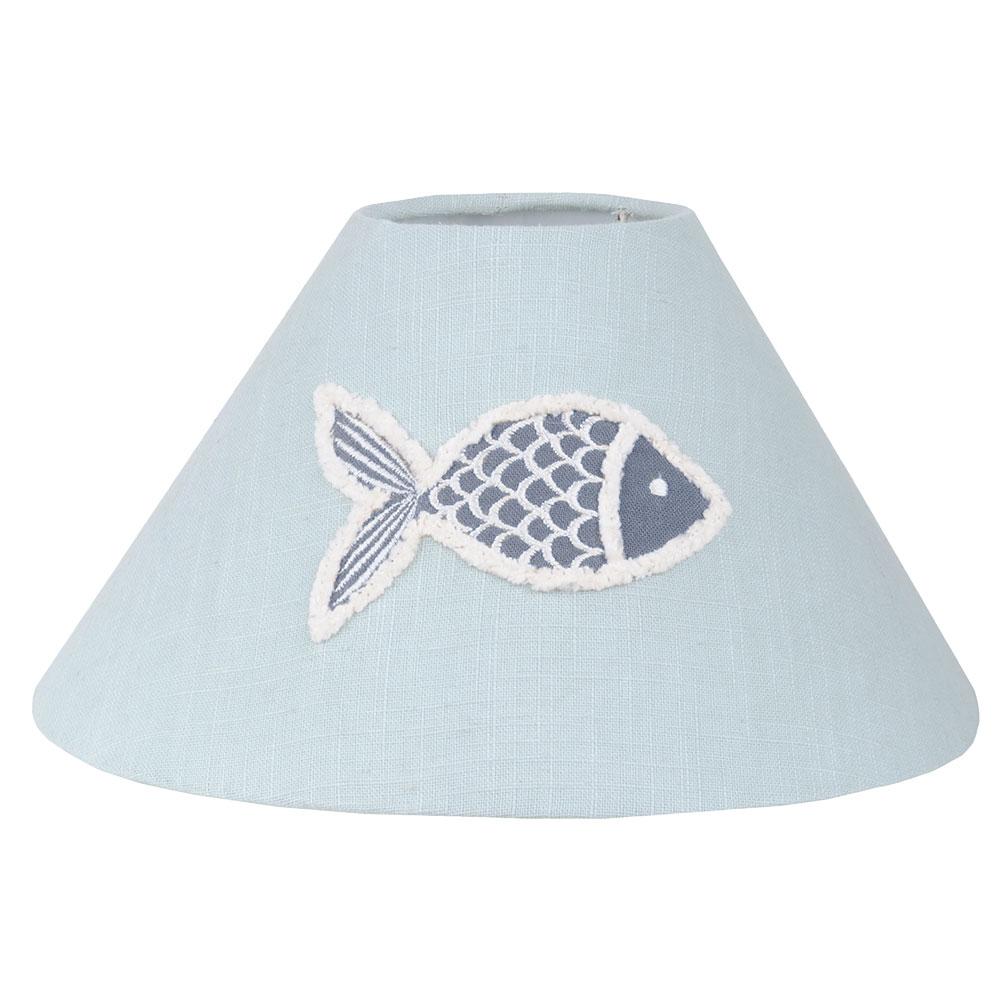 Abat-jour bleu en coton D25cm