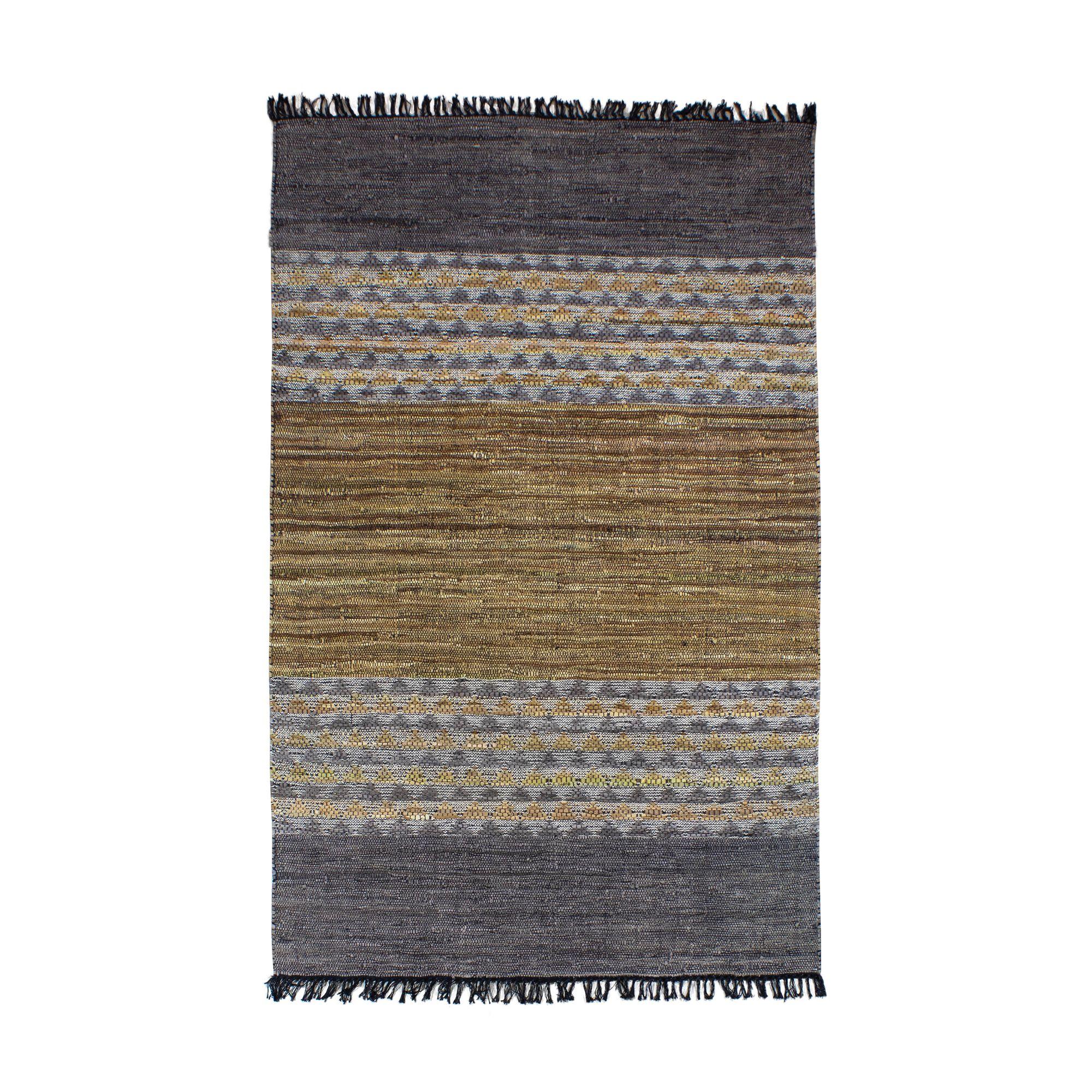 Tapis en cuir et coton 150x240 cm