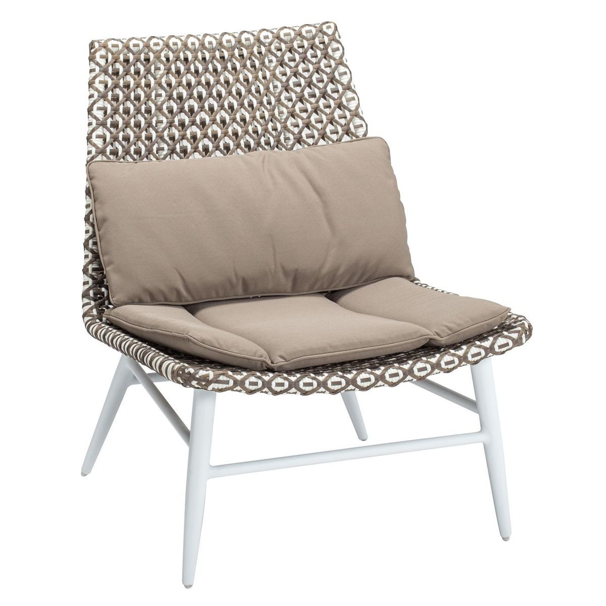 Fauteuil bas taupe