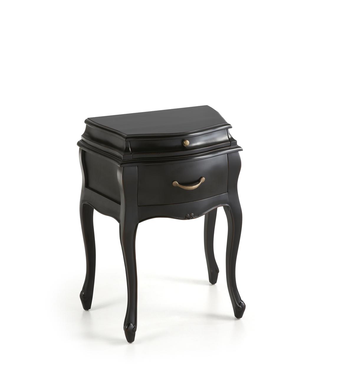 Table de chevet en bois noir L 57 CM