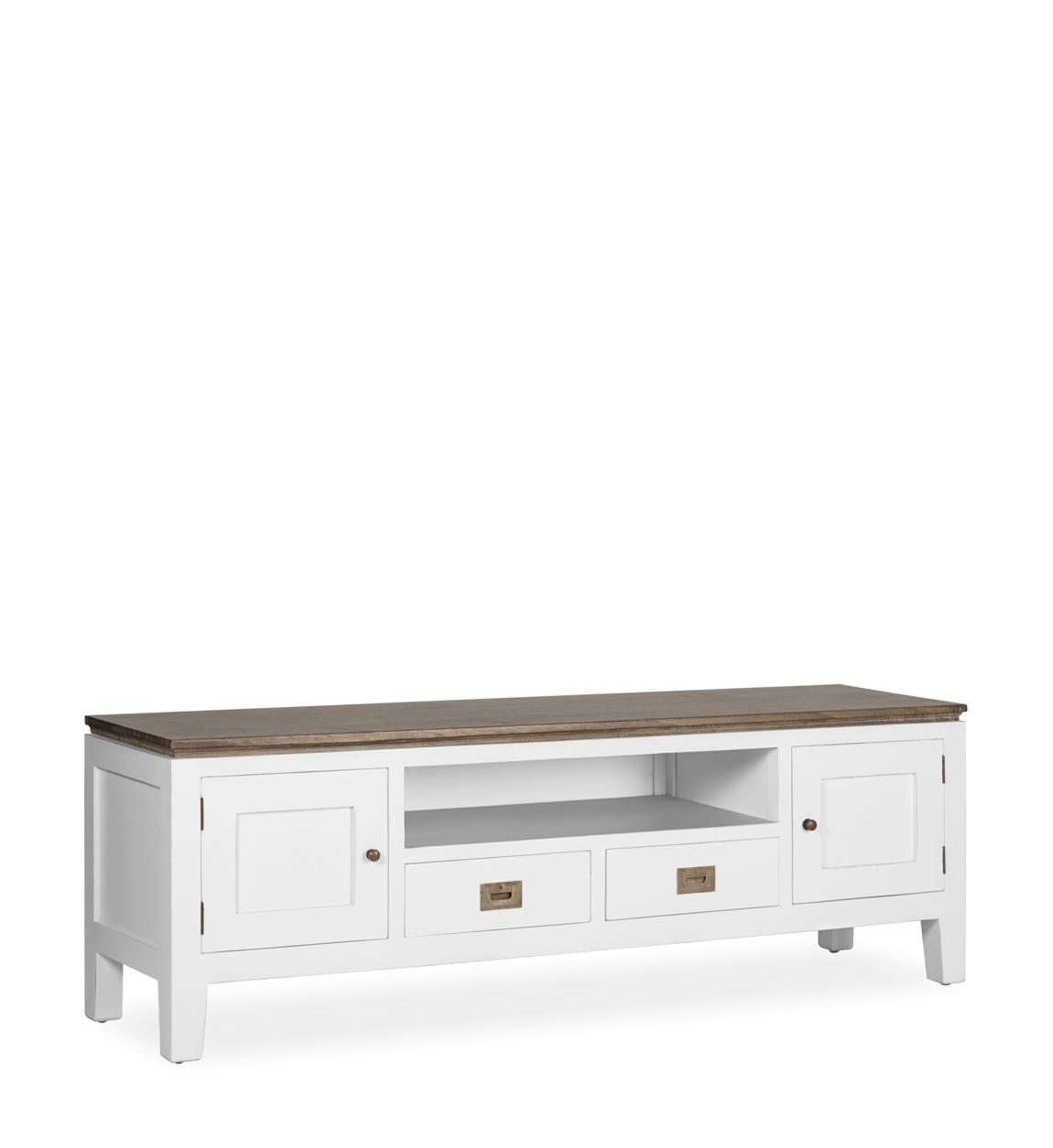 Meuble tv en bois blanc L 150 cm