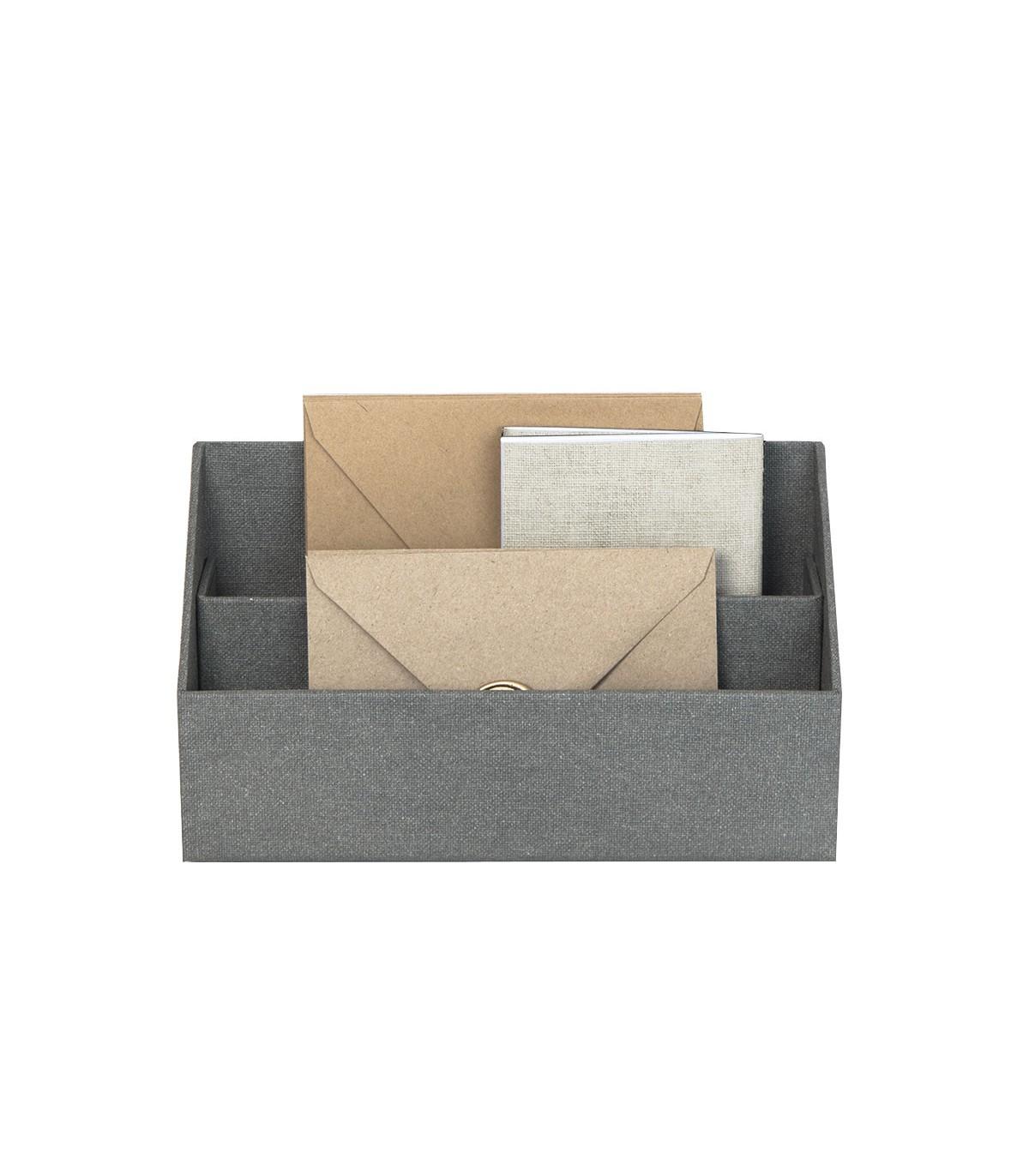 Organisateur de courriers et enveloppes - Gris