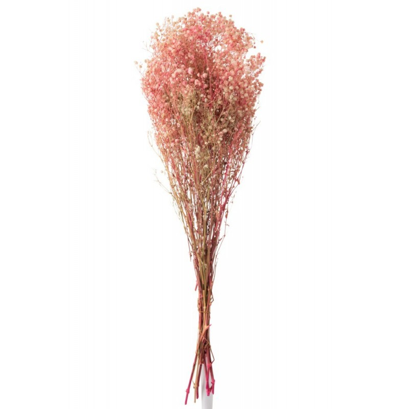 Bouquet gypsophile séché rose H84cm
