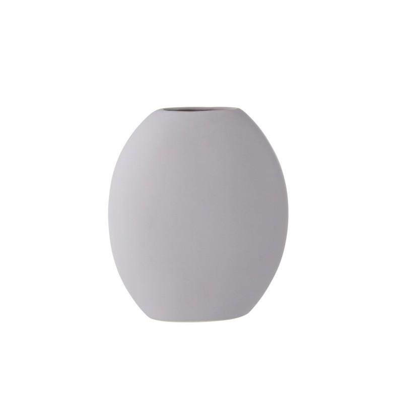 Vase haut plat céramique clair H31cm