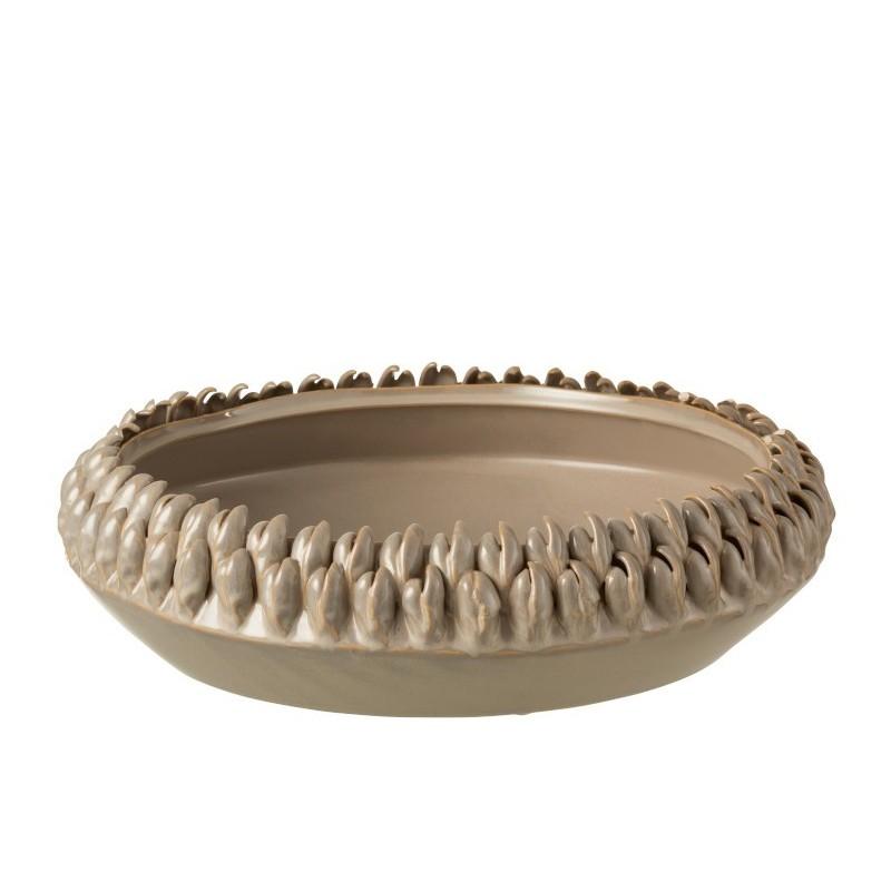 Plat céramique gris D36,5cm