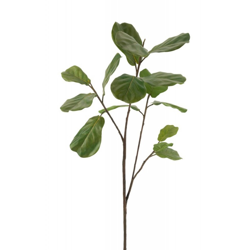 Branche figuier plastique vert foncé H124cm