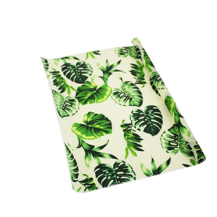 Rouleau de beewraps motif feuilles : 100 cm x 32 cm
