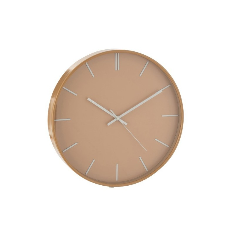 Horloge plastique marron clair D40cm