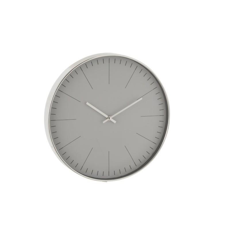 Horloge plastique argent D40cm