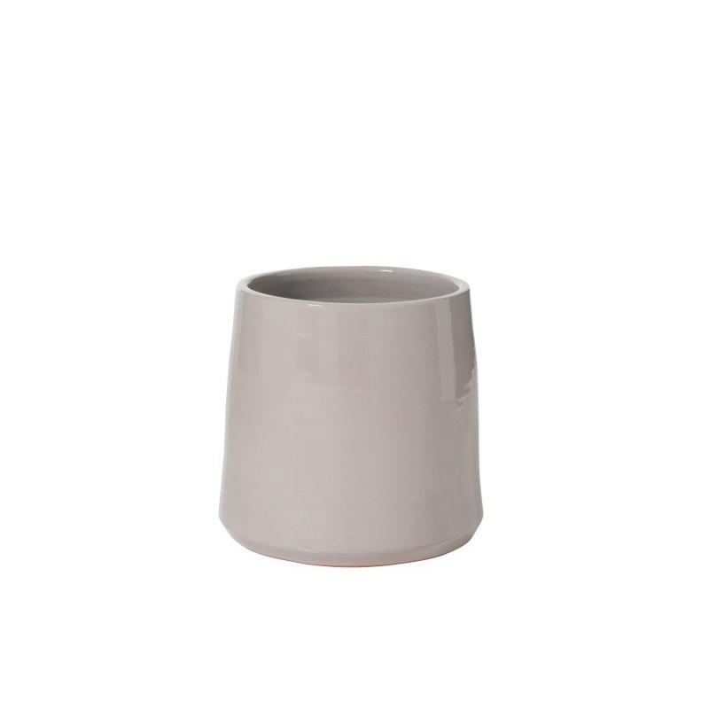 Cache-pot céramique gris H27cm