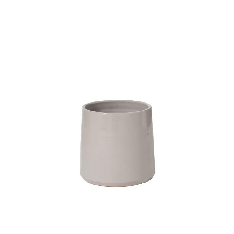 Cache-pot céramique gris H22,5cm
