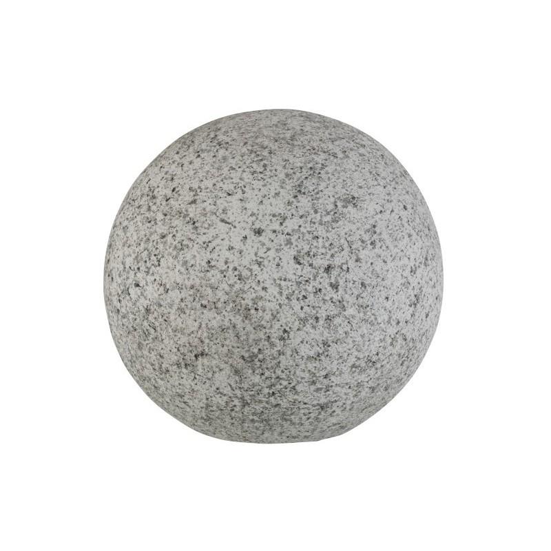 Boule magnésie moucheté gris H39cm