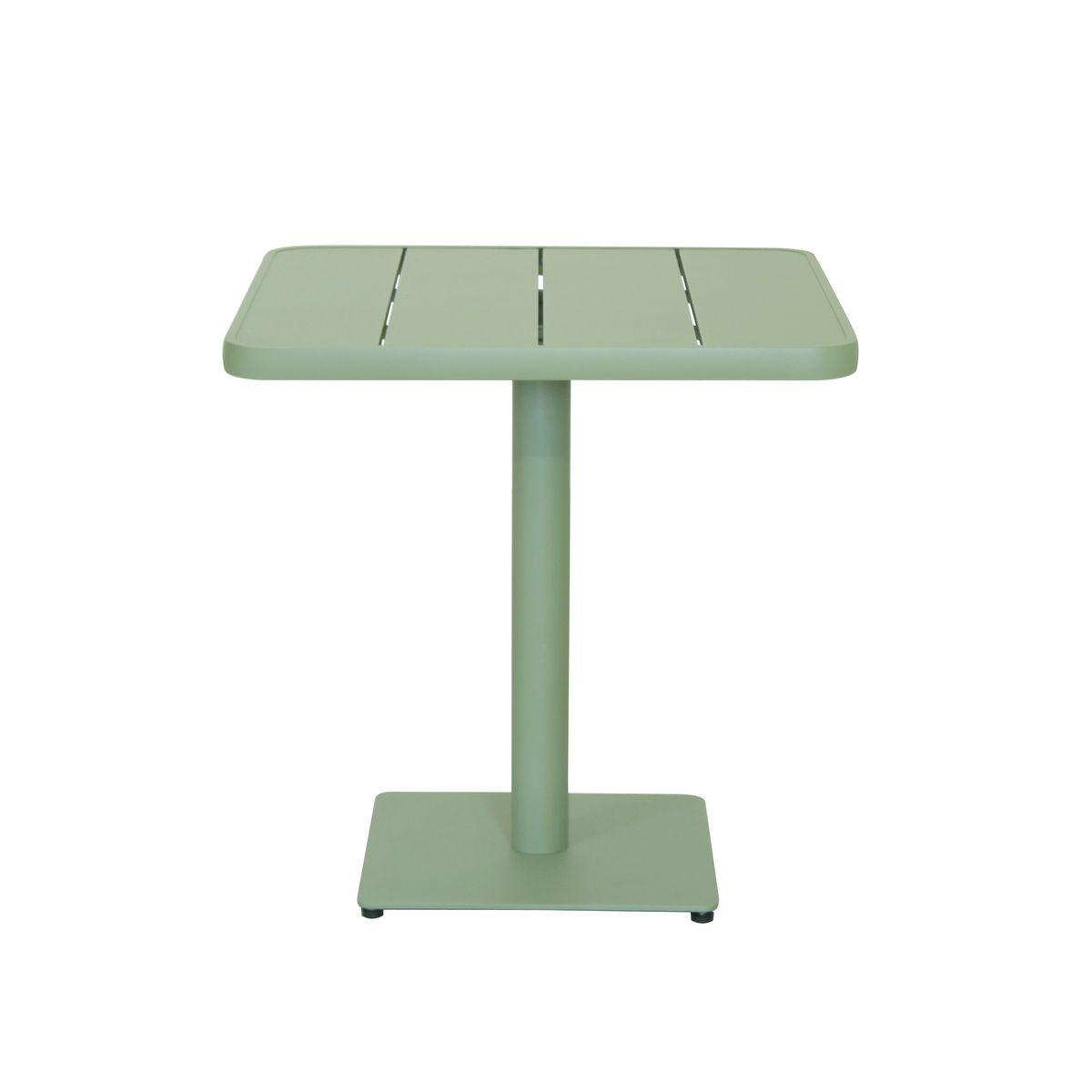 Table à manger extérieure en aluminium vert