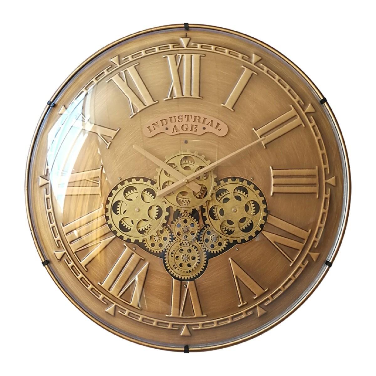 Horloge mecanisme convexe en Métal Or