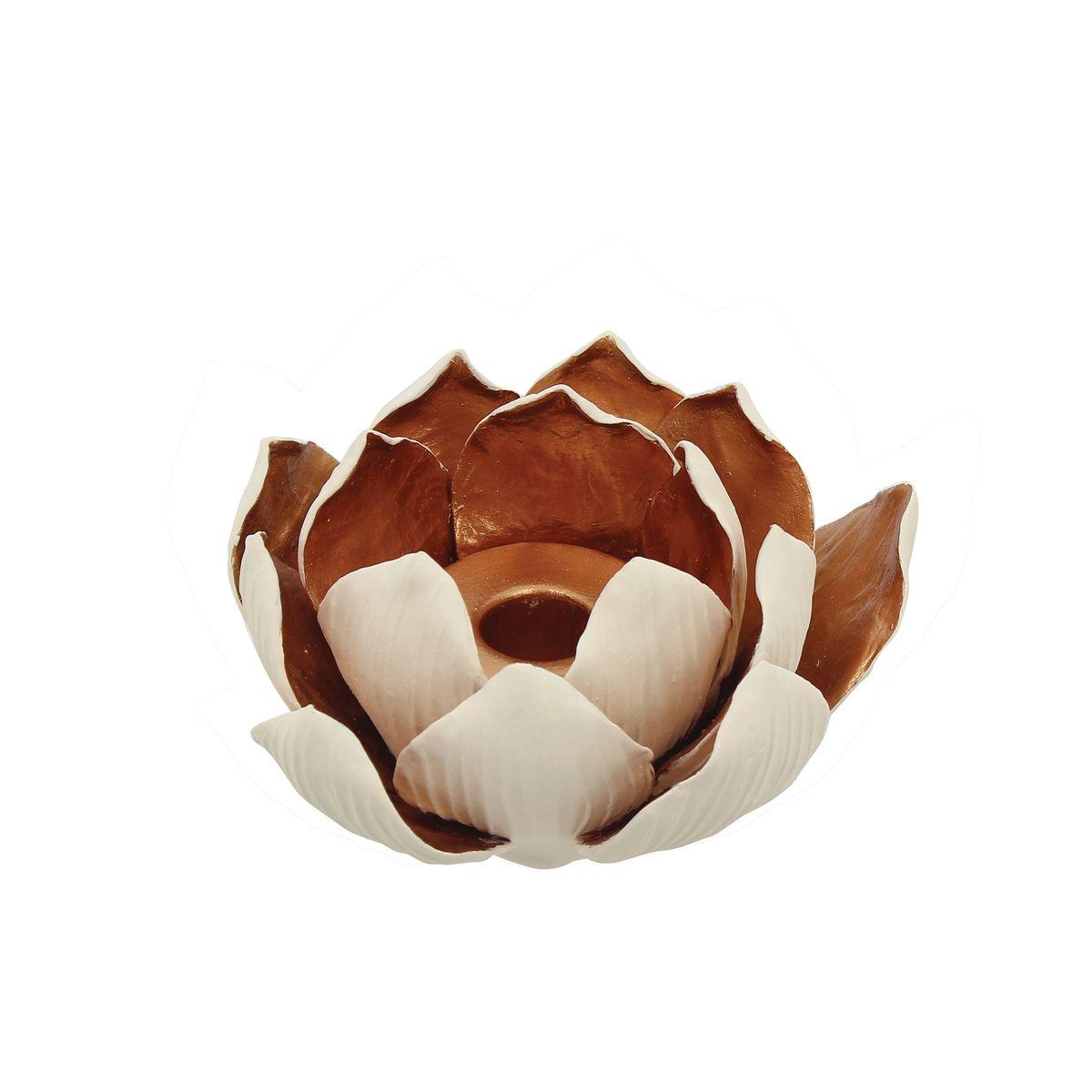 Bougeoir fleur de lotus en céramique