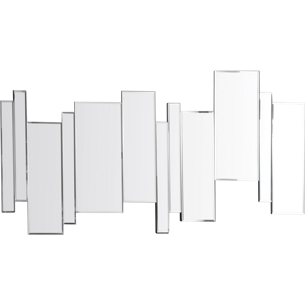 Miroir barres décalées en Verre Argent