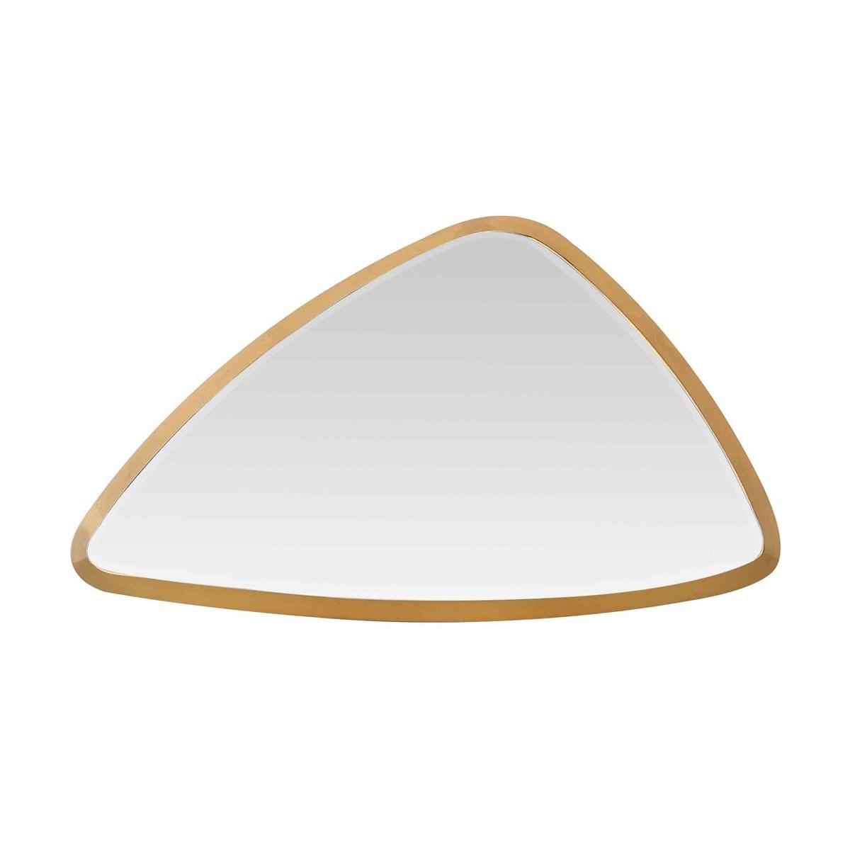 Miroir biseauté Triangle en Métal Or