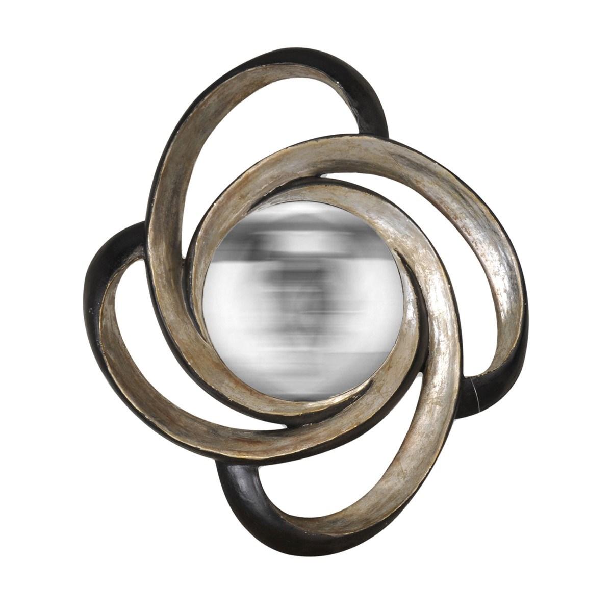 Miroir boucle noir et argent en Résine Argent
