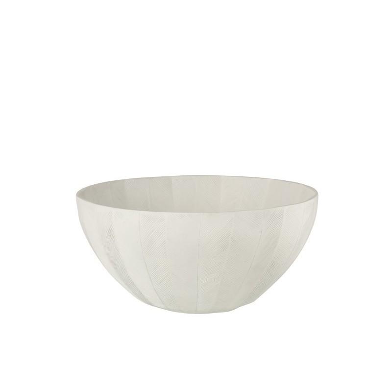 Plat en résine blanc D39cm