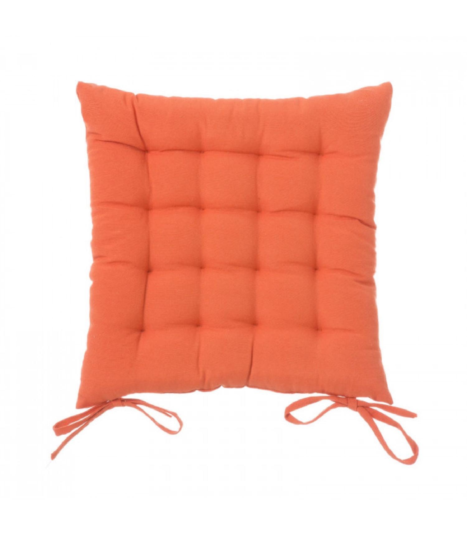 Coussin de chaise carré orange 40x40