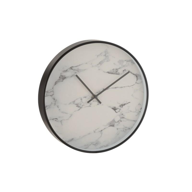 Horloge plastique noir D40cm