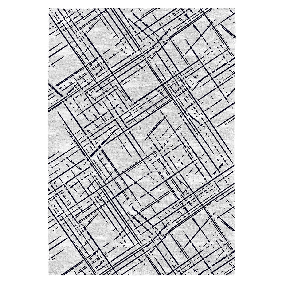 Tapis de salon moderne en coton imprimé numérique 120x170 cm