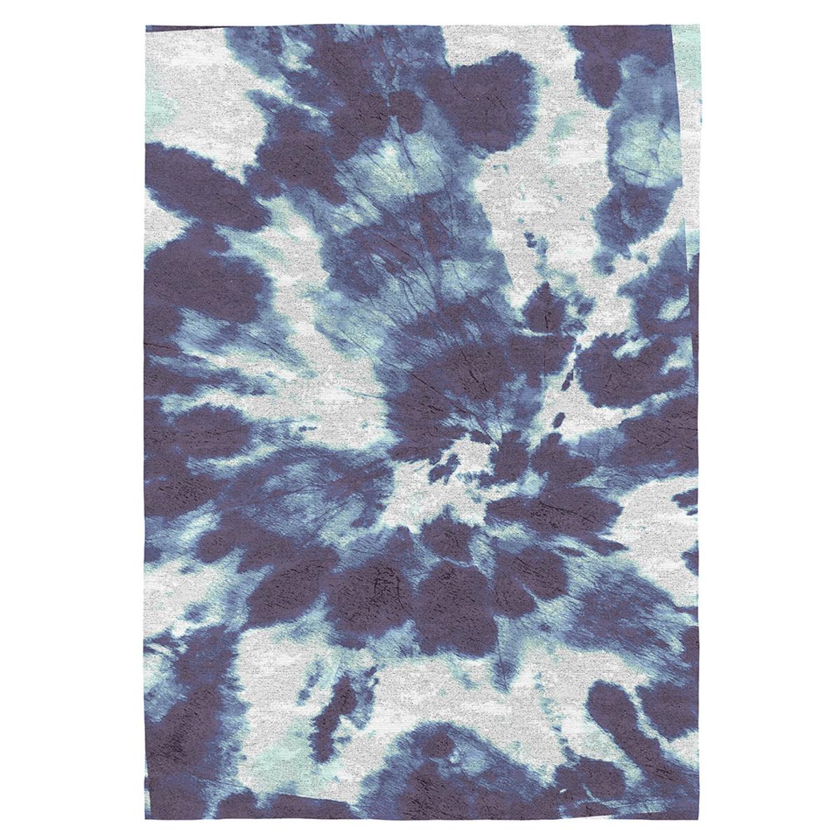 Tapis décoratif en coton imprimé numérique tie dye 160x230 cm