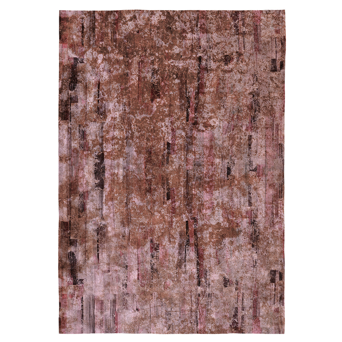 Tapis décoratif modern en coton imprimé marron 160x230 cm