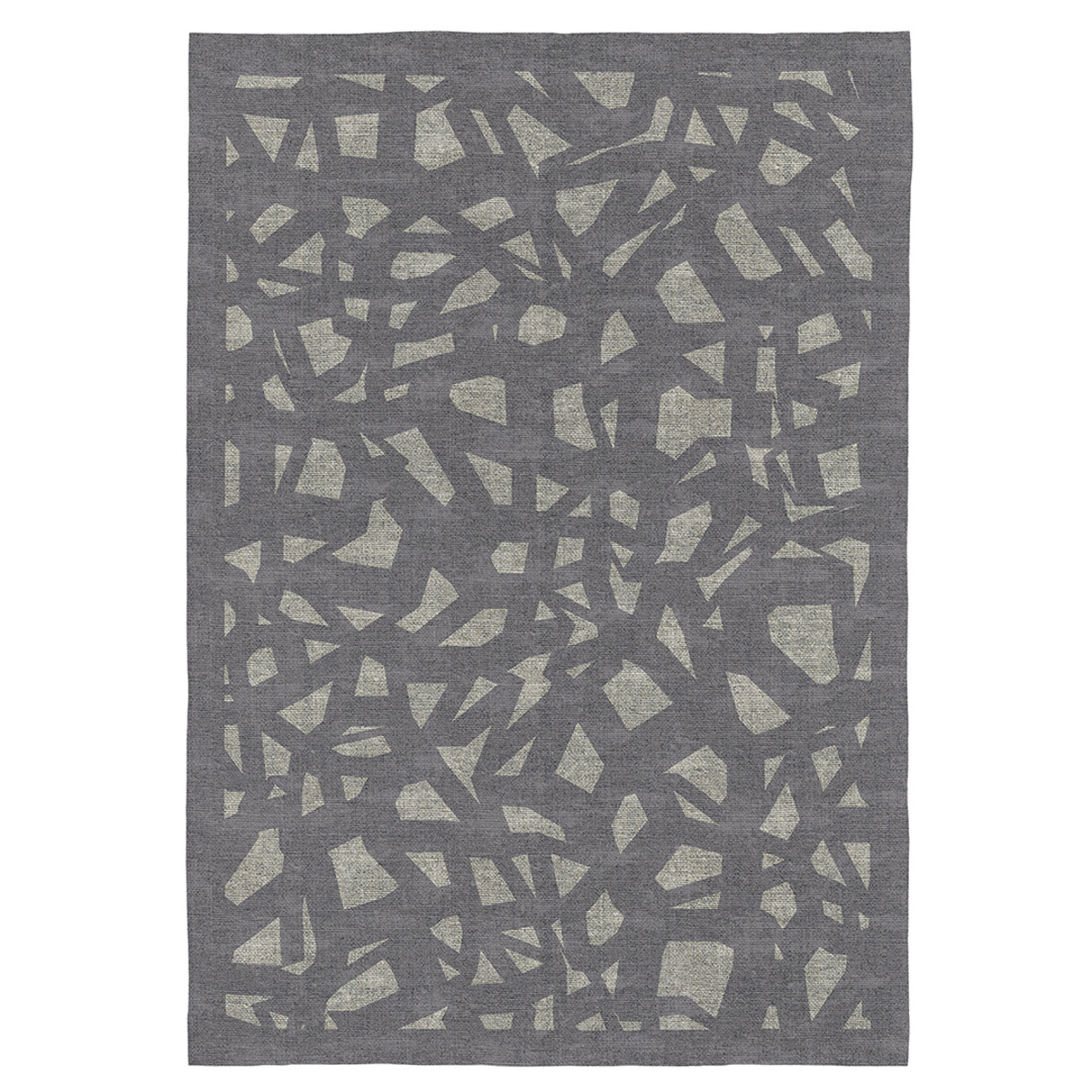 Tapis décoratif en coton imprimé numérique gris 200x290 cm