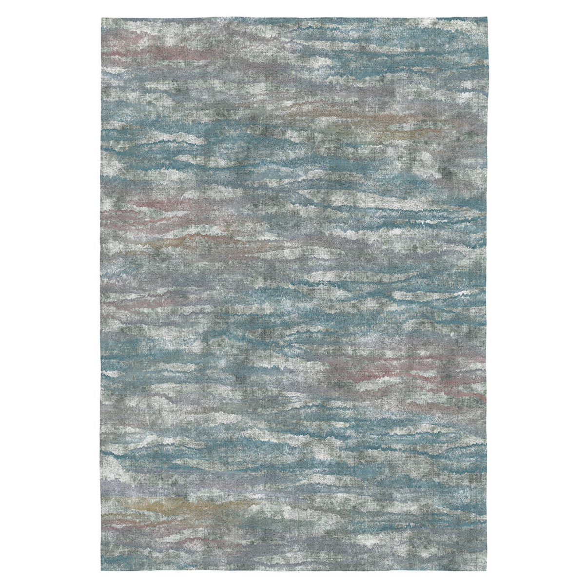 Tapis décoratif style moderne en coton imprimé numérique 140x200 cm