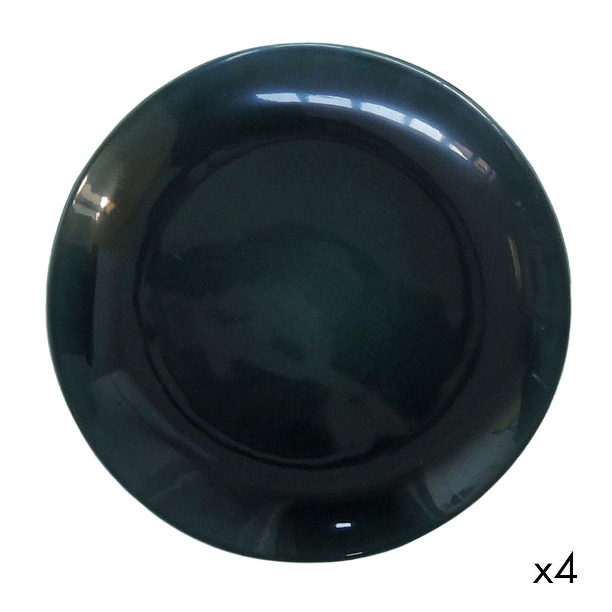 Assiette plate céramique (par 4) vert