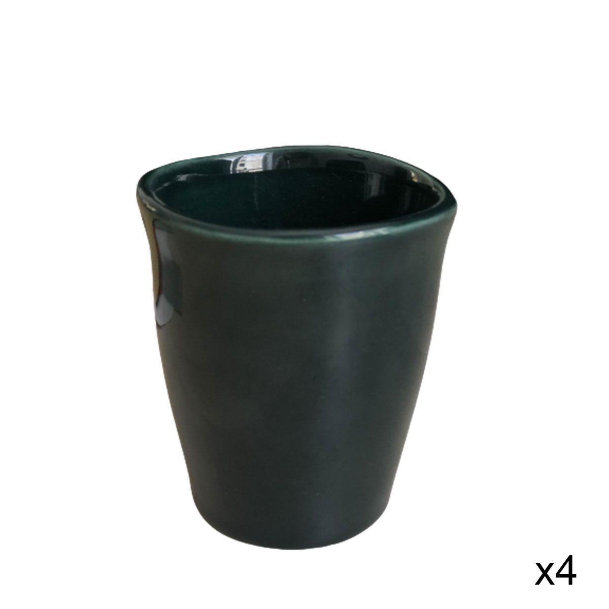 Tasse en céramique (par 4) Frost vert