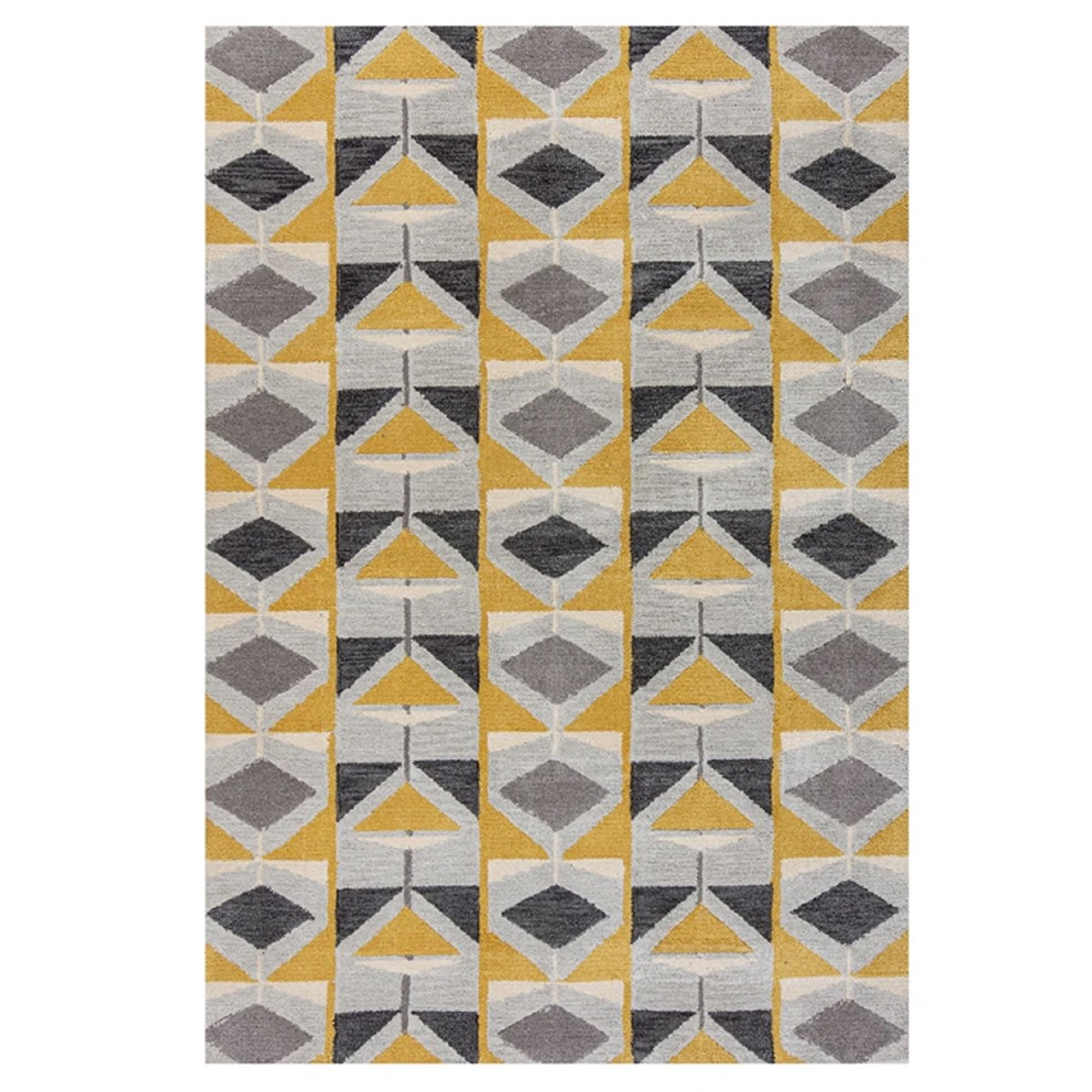 Tapis de salon en Polyester Jaune foncé 60x230 cm
