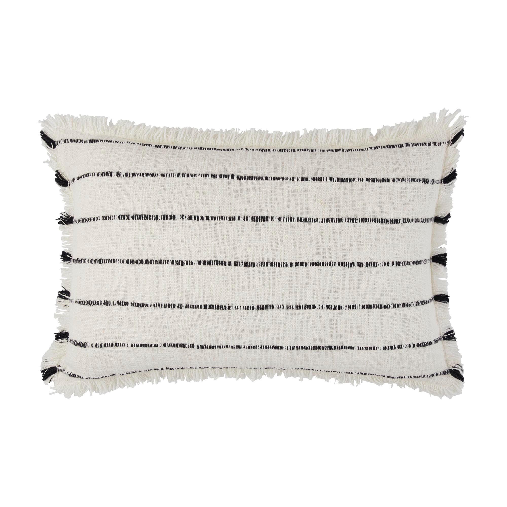 Housse de coussin 40x60 cm Blanc et noir