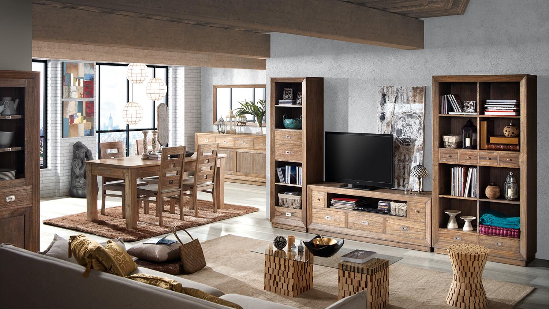 Meuble TV en bois marron L160