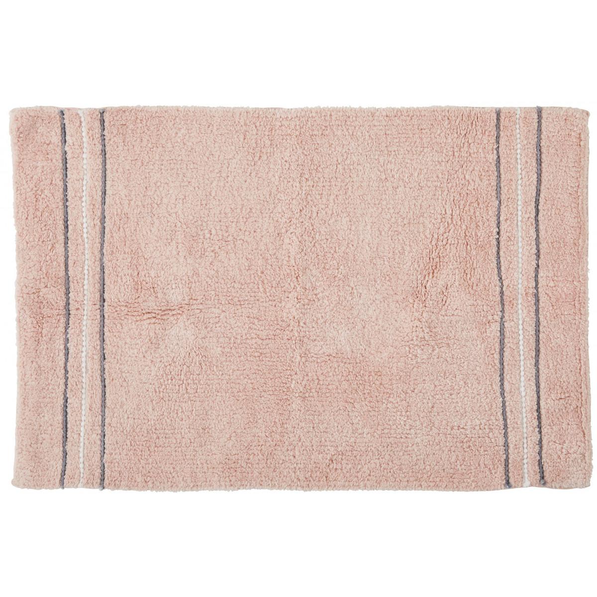 Tapis de bain fantaisie 50x80cm coton Linea Rose poudré