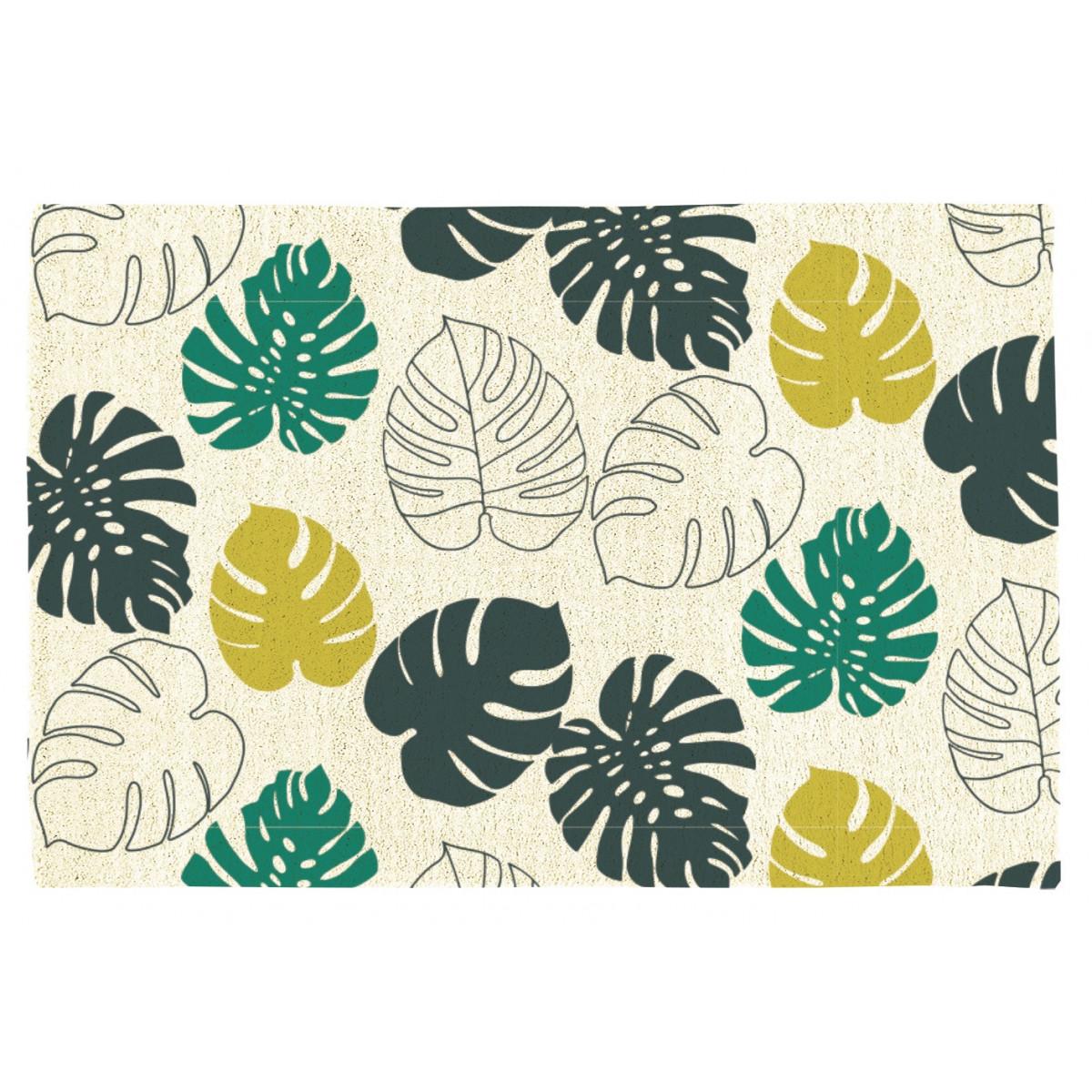 Tapis de bain imprimé 50x70cm coton Canvas Tropic