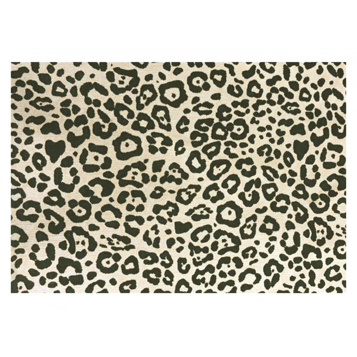 Tapis de bain imprimé 50x70cm coton Canvas Panthère