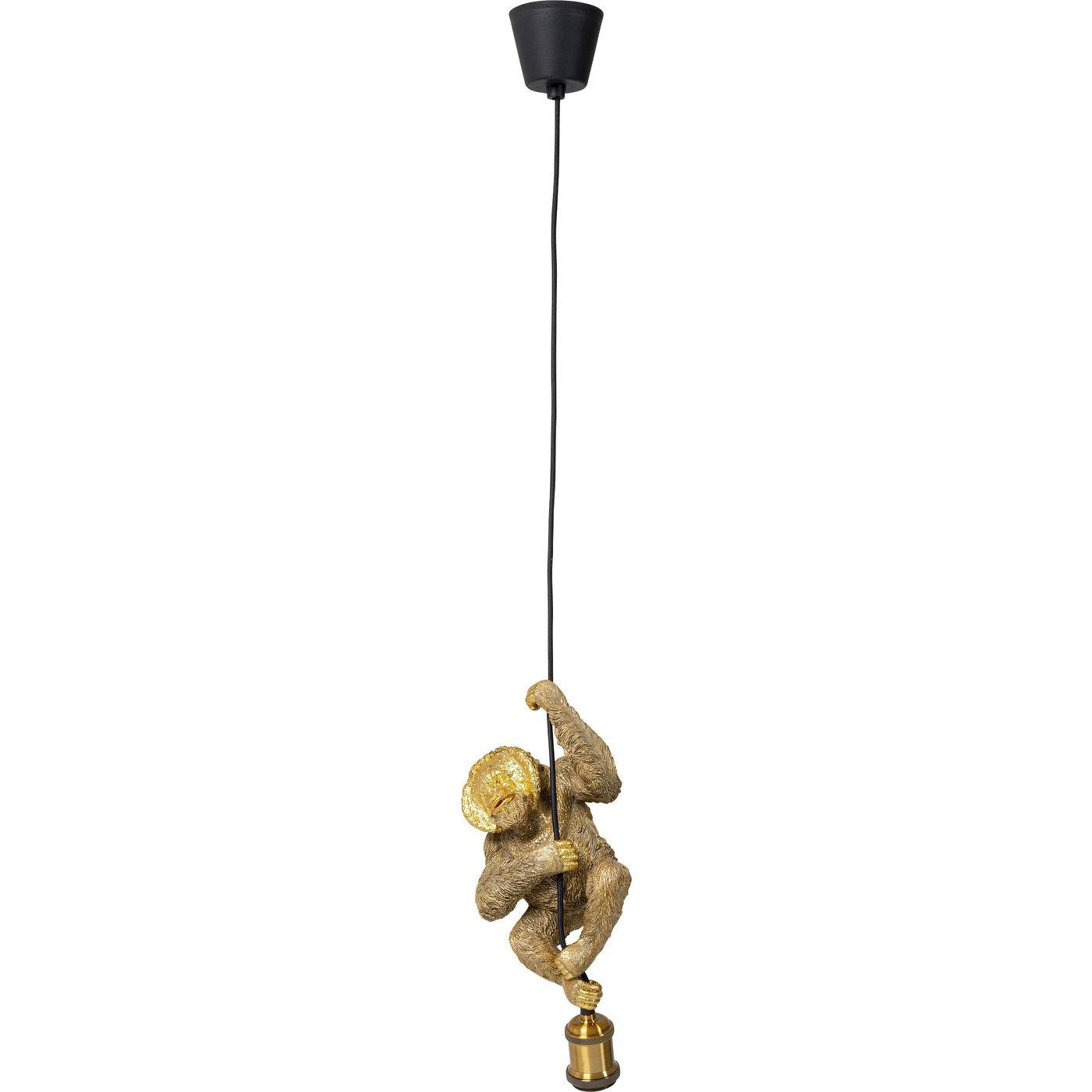 Suspension singe en polyrésine dorée