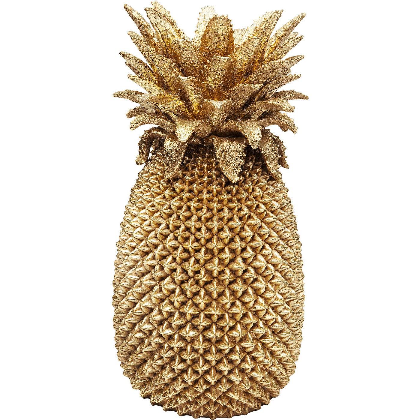 Vase ananas en polyrésine dorée H50