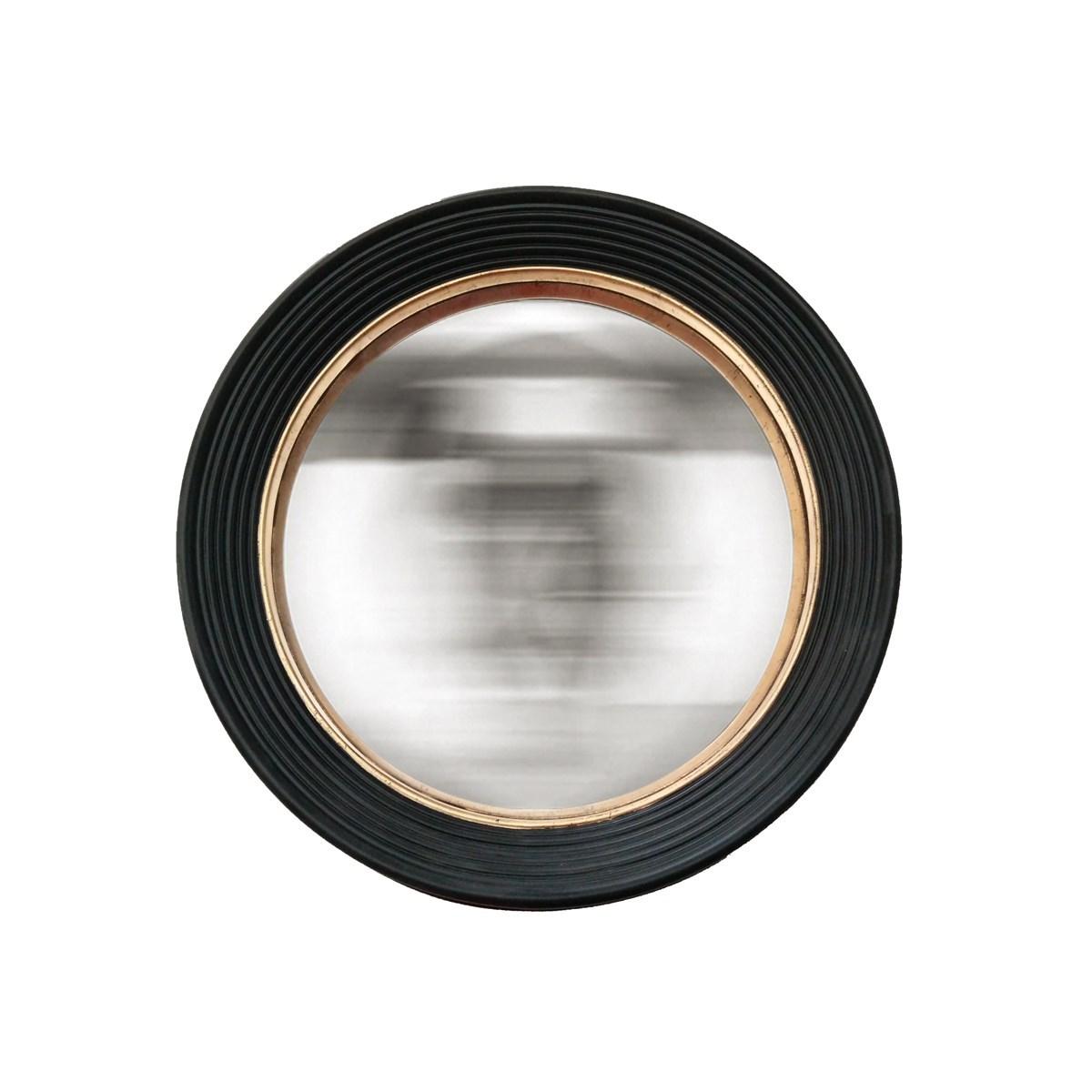 Miroir convexe noir et doré 48 cm en Résine Noir