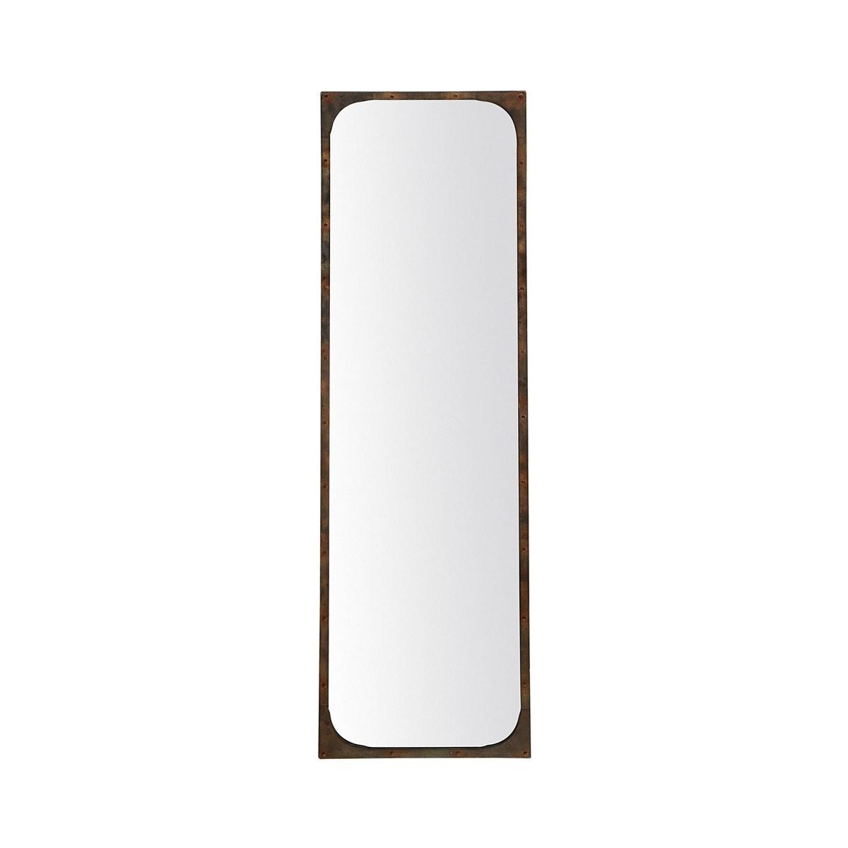 Miroir à cornes en Verre Bronze