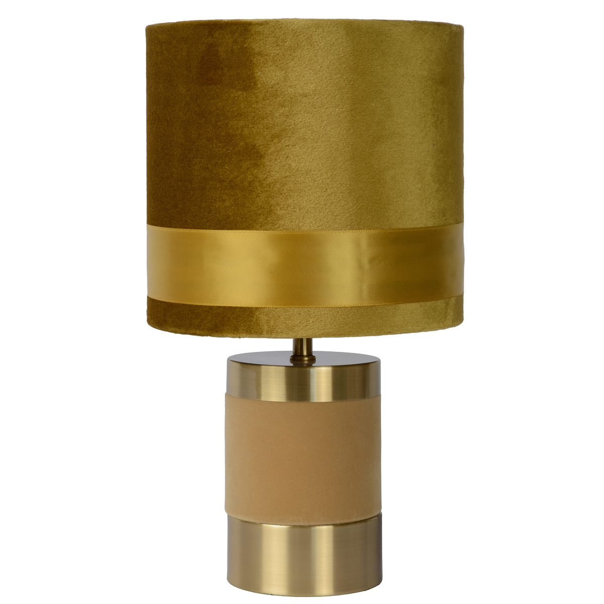 Lampe en métal jaune