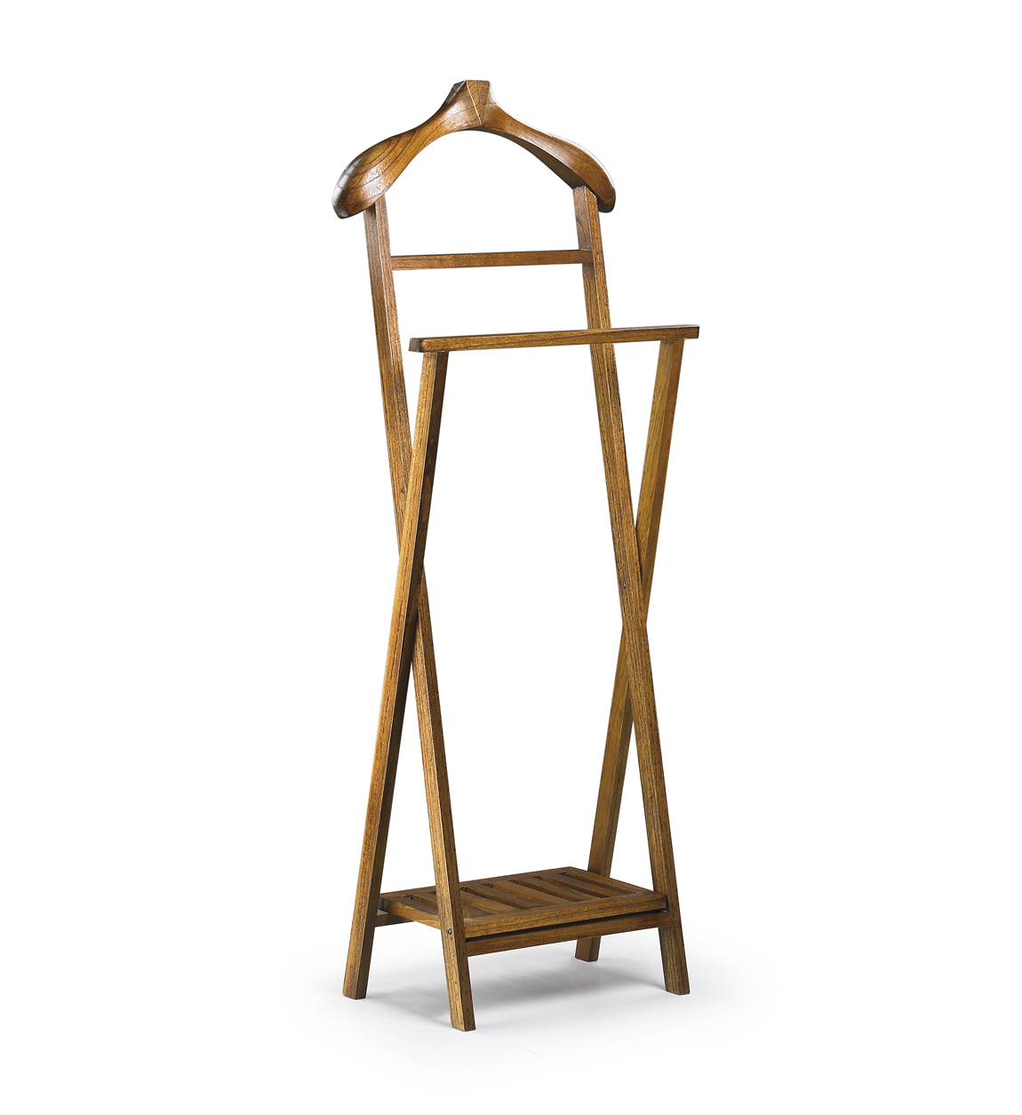 Valet de chambre en bois marron