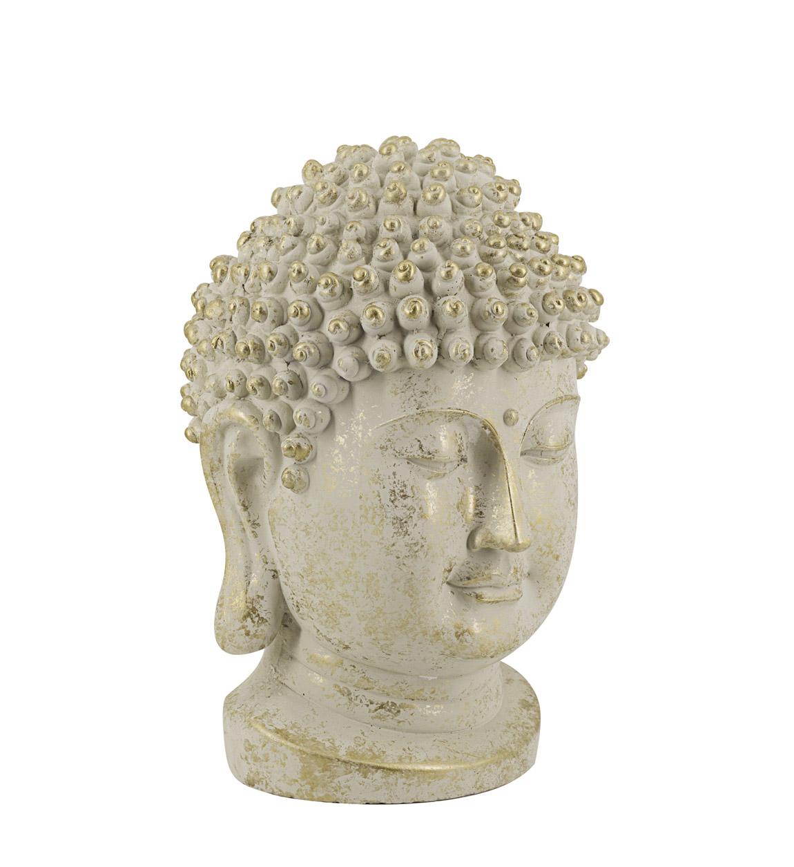Statue Buddha en résine dorée