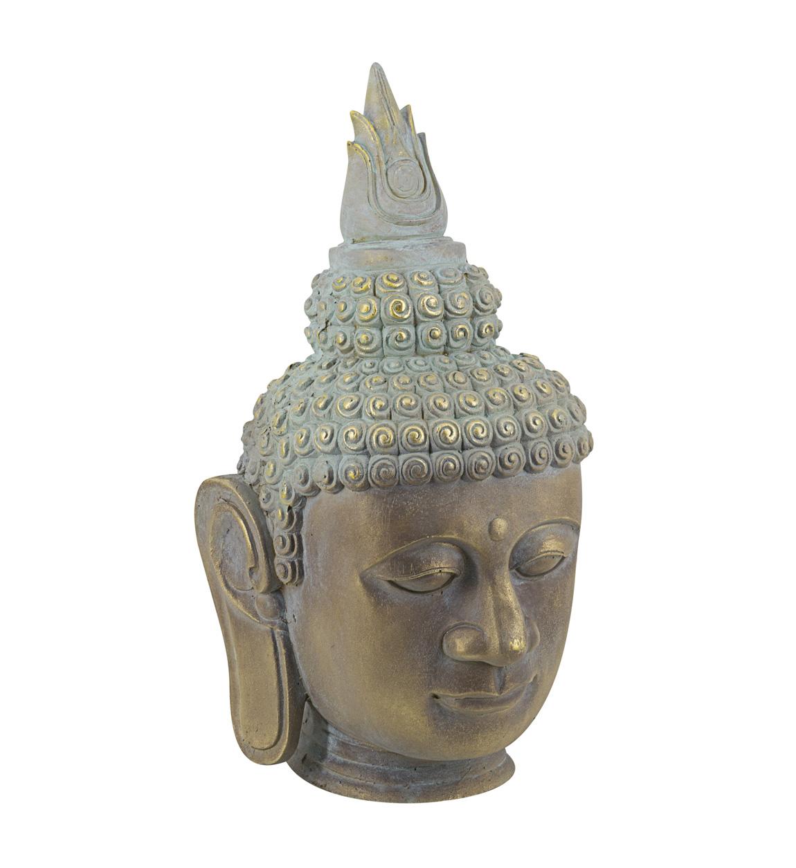 Statue Buddha en résine bronzée